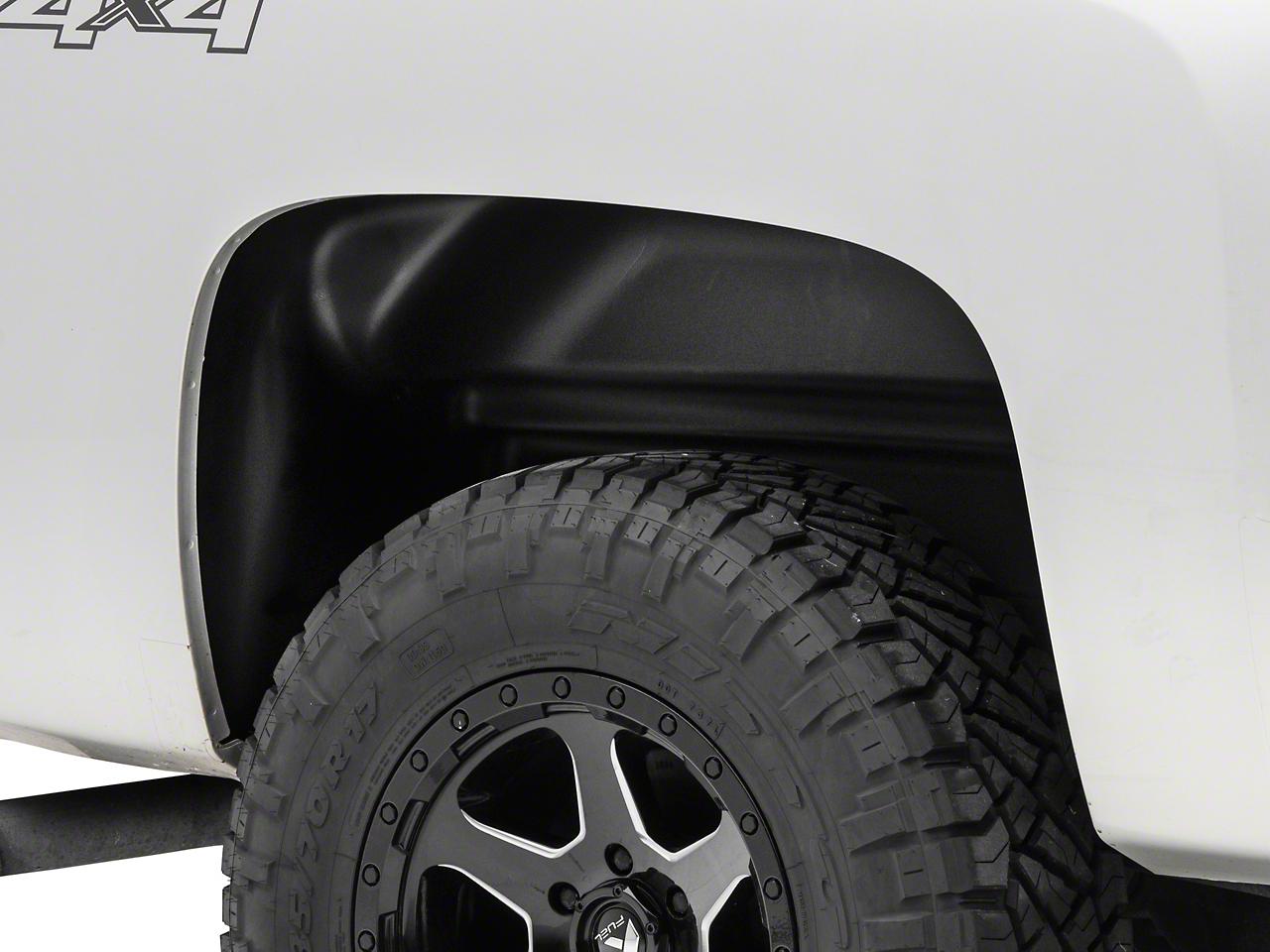 Husky Rear Wheel Well Guards - Black (07-13 Silverado 1500)