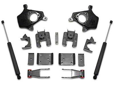 Max Trac Lowering Kit w/ Lowering Spindles - 2 in. Front / 4 in. Rear (07-13 2WD/4WD Silverado 1500)