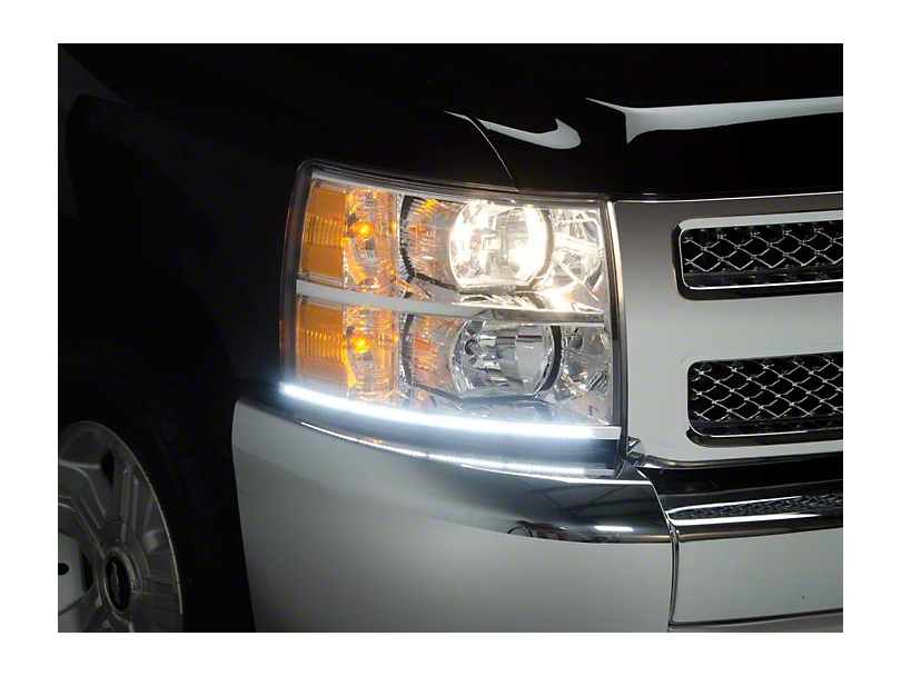 Putco LED Dayliner G3 Kit; Black (07-13 Silverado 1500)