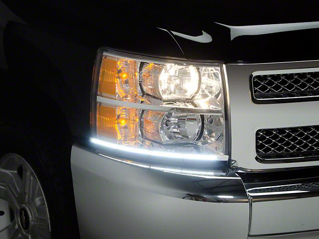 LED Dayliner G3 Kit; Black (07-13 Silverado 1500)
