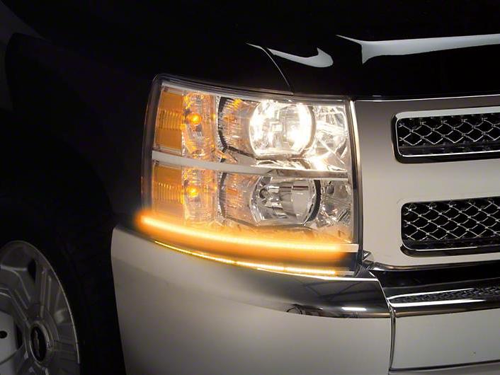 Putco SwitchBack LED DayLiners - Polished (07-13 Silverado 1500)