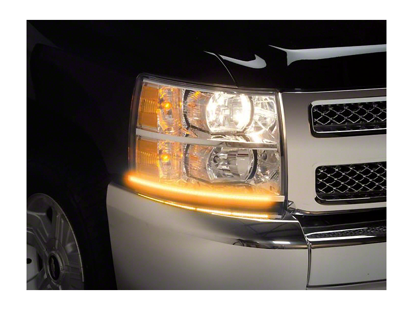 Putco SwitchBack LED DayLiners - Black (07-13 Silverado 1500)