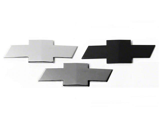 Grille & Tailgate Emblems; Black (07-13 Silverado 1500)