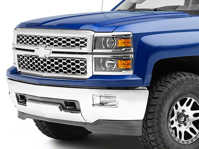 Grille and Tailgate Emblems; Chrome (14-15 Silverado 1500)