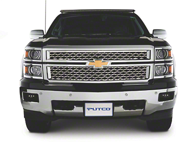 Putco Punch Stainless Steel Upper Replacement Grilles - Polished (14-15 Silverado 1500 w/ Z71 Package)
