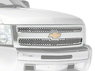 Putco Punch Stainless Steel Upper Overlay Grilles - Polished (07-13 Silverado 1500)