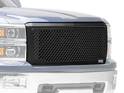 Putco Boss Mesh Upper Replacement Grille - Black (14-15 Silverado 1500)