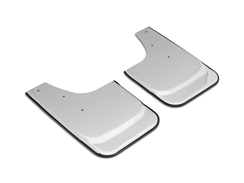 Stainless Steel Mud Flaps w/ Bowtie Logo; Front or Rear (07-20 Silverado 1500)