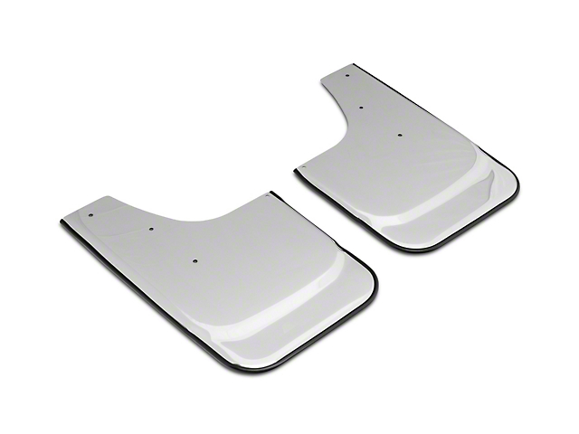 Stainless Steel Mud Flaps with Bowtie Logo; Front or Rear (07-21 Silverado 1500)