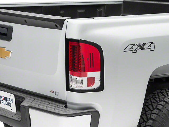 LED Tail Lights; Red Clear (07-13 Silverado 1500)