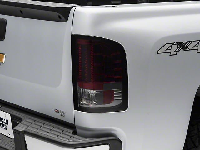LED Tail Lights; Red Smoked (07-13 Silverado 1500)