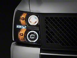 CCFL Halo Projector Headlights; Black Housing; Clear Lens (07-13 Silverado 1500)