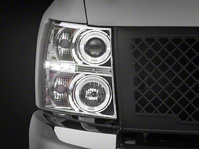 Axial Chrome Projector Headlights w/ LED Halo (07-13 Silverado 1500)