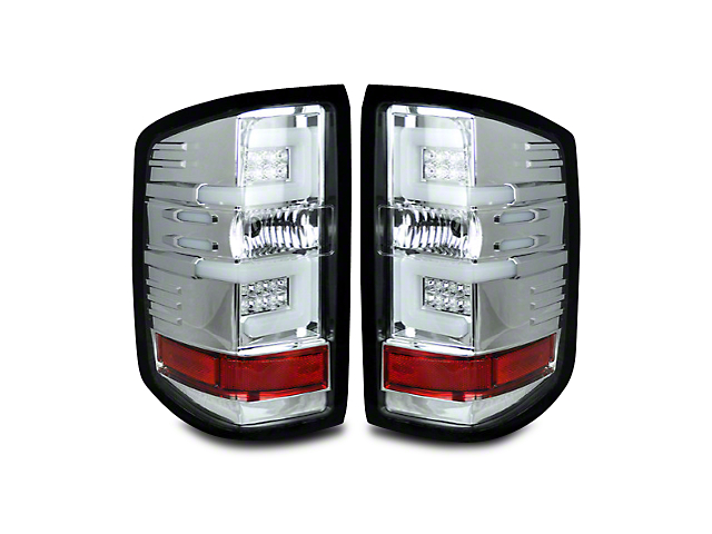 Recon LED Tail Lights - Clear Lens (14-18 Silverado 1500 w/o Factory LED Tail Lights)