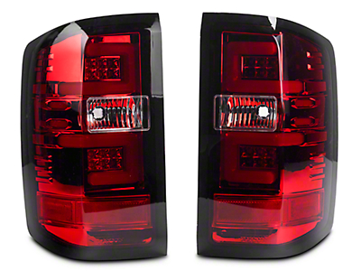 Recon LED Tail Lights - Red Lens (14-18 Silverado 1500 w/o Factory LED Tail Lights)