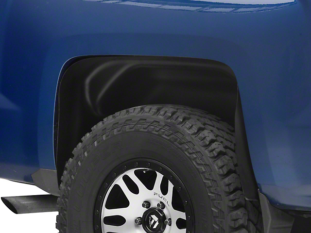 Husky Rear Wheel Well Guards; Black (14-18 Silverado 1500)