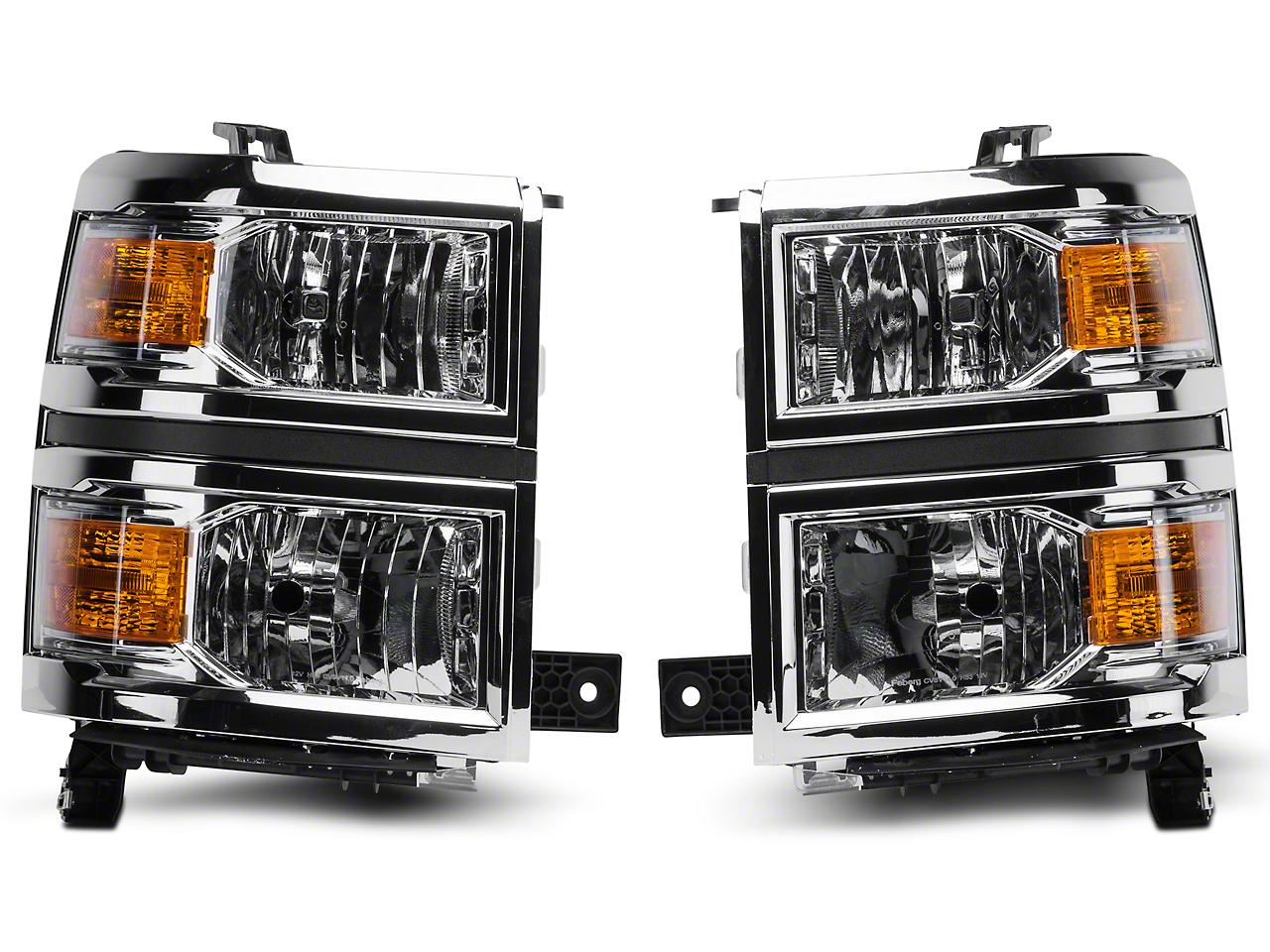 Axial Chrome Crystal Headlights (14-15 Silverado 1500)