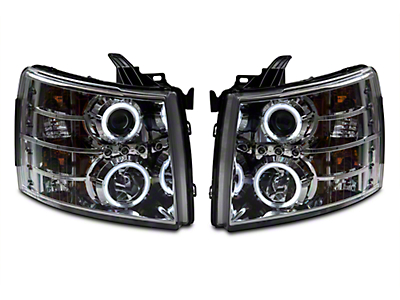 Axial Chrome Dual CCFL Halo Projector Headlights (07-13 Silverado 1500)