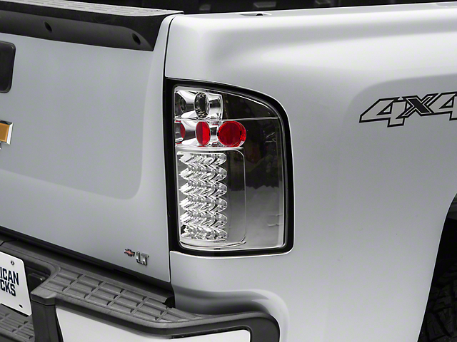 LED Tail Lights; Chrome (07-13 Silverado 1500)