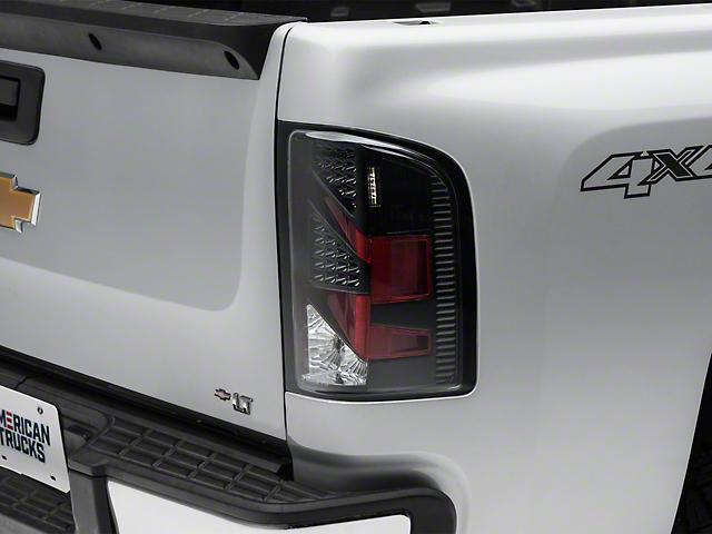 LED Tail Lights; Black (07-13 Silverado 1500)