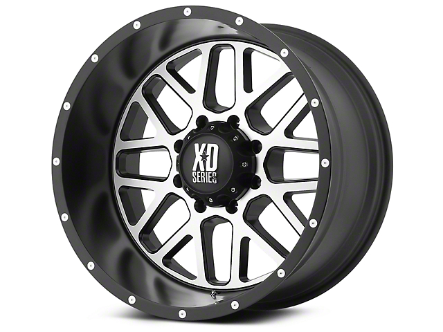 XD Grenade Satin Black Machined 6-Lug Wheel - 20x9 (99-19 Silverado 1500)