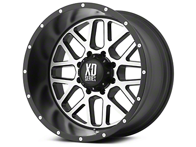 XD Grenade Satin Black Machined 6-Lug Wheel - 20x9 (99-18 Silverado 1500)