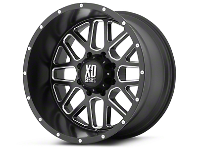 XD Grenade Satin Black Milled 6-Lug Wheel - 20x9 (07-18 Silverado 1500)
