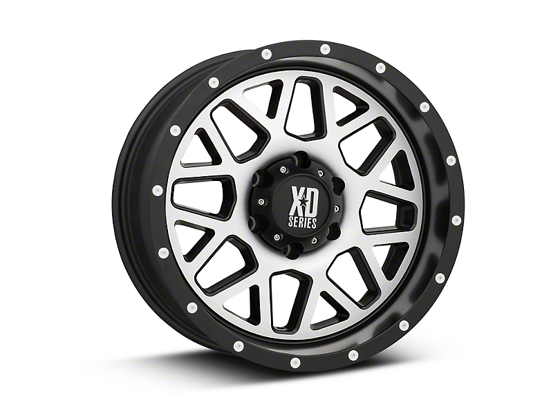 XD Grenade Satin Black Machined 6-Lug Wheel - 18x9 (99-19 Silverado 1500)