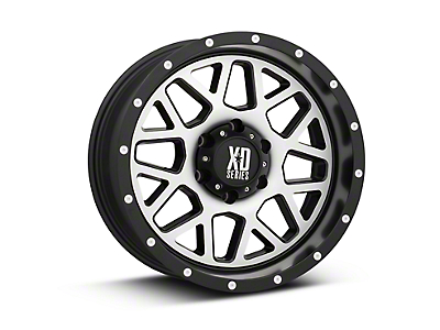 XD Grenade Satin Black Machined 6-Lug Wheel - 18x9 (07-18 Silverado 1500)