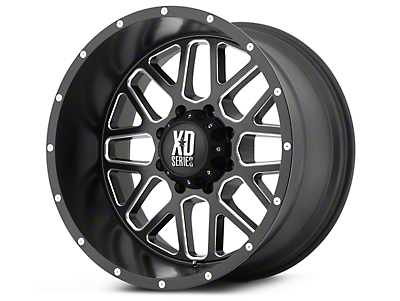 XD Grenade Satin Black Milled 6-Lug Wheel - 18x9 (99-18 Silverado 1500)