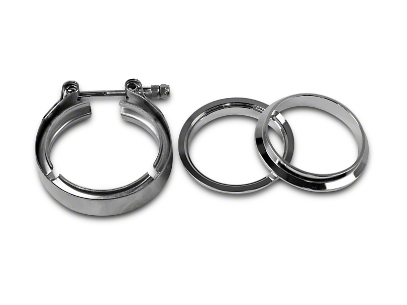 GMS 3 in. Mating Male to Female Interlocking Flange w/ V-Band Exhaust Clamp - Stainless Steel (99-19 Silverado 1500)