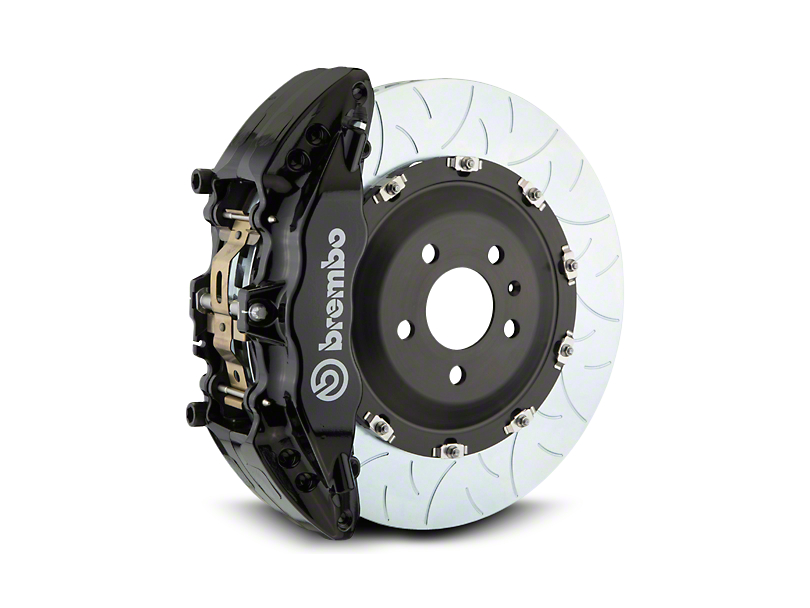 Brembo GT Series 6-Piston Front Brake Kit - Type 3 Slotted Rotors - Black (07-18 Silverado 1500)