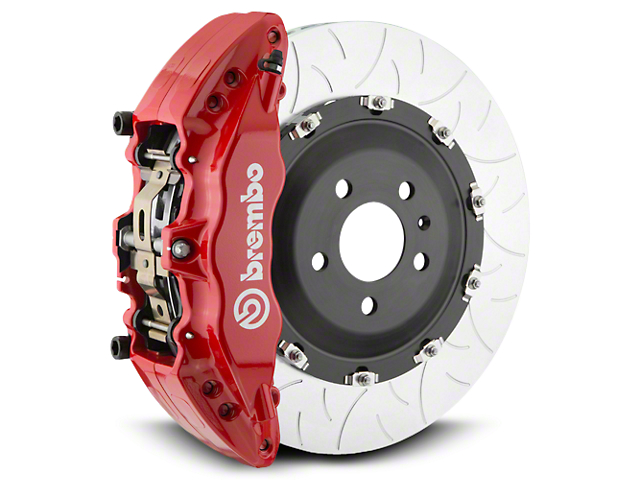Brembo GT Series 6-Piston Front Brake Kit - Type 3 Slotted Rotors - Red (07-18 Silverado 1500)