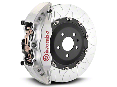 Brembo GT Series 6-Piston Front Brake Kit - Type 3 Slotted Rotors - Silver (07-18 Silverado 1500)