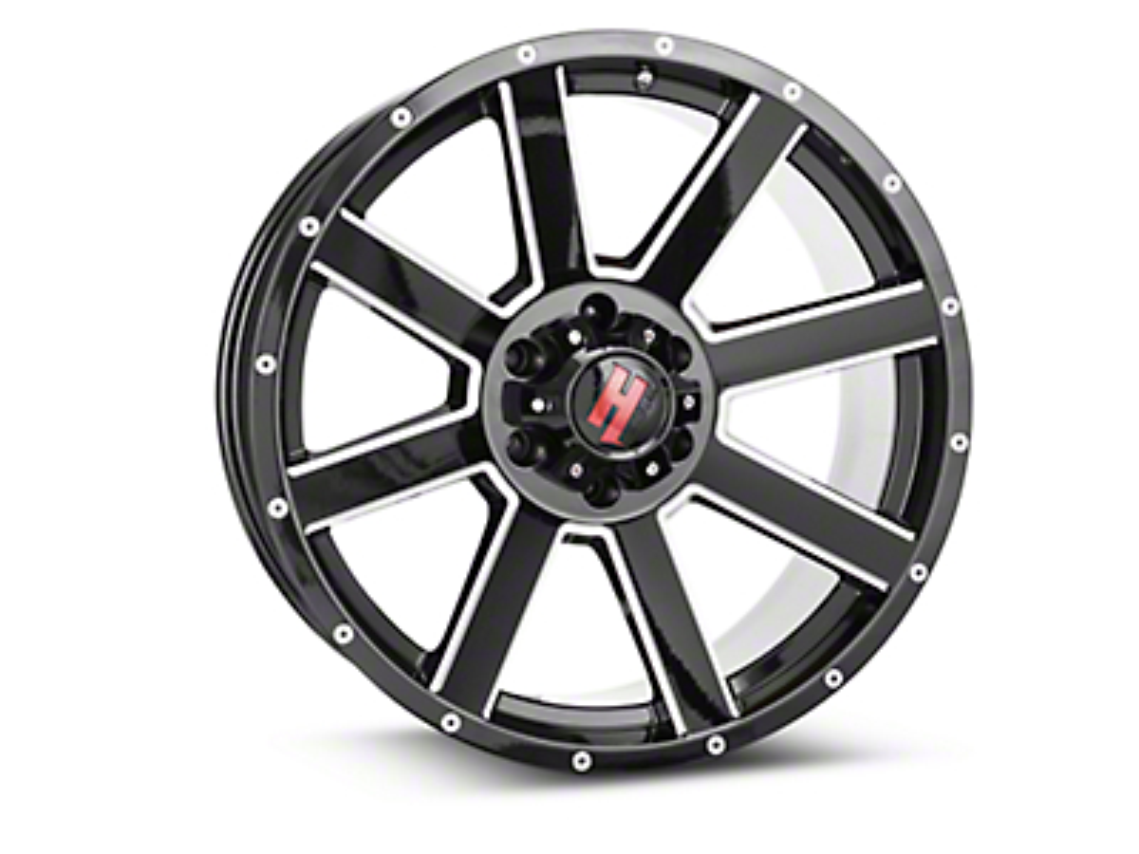 Havok Off-Road H109 Black Milled 6-Lug Wheel - 20x9 (99-18 Silverado 1500)