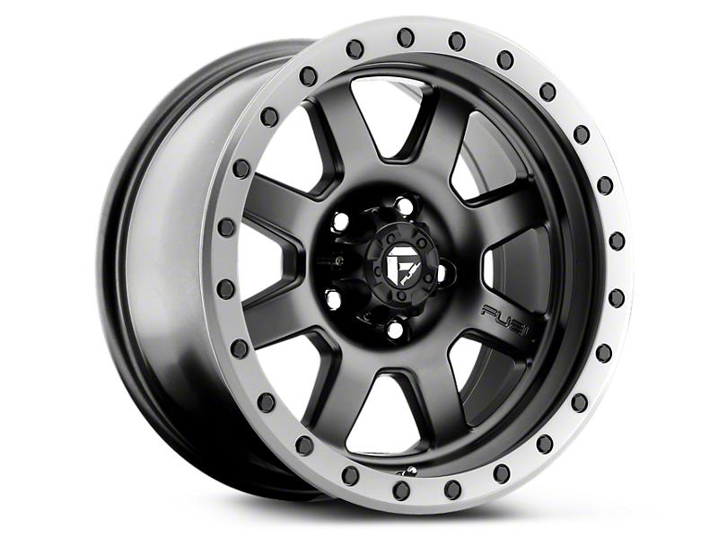 Fuel Wheels Trophy Matte Black w/ Anthracite Ring 6-Lug Wheel - 17x8.5 (99-18 Silverado 1500)