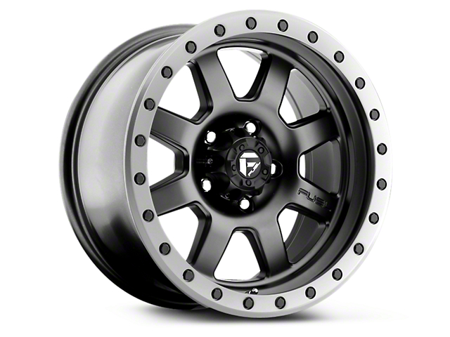 Fuel Wheels Trophy Matte Black w/ Anthracite Ring 6-Lug Wheel - 17x8.5 (99-19 Silverado 1500)
