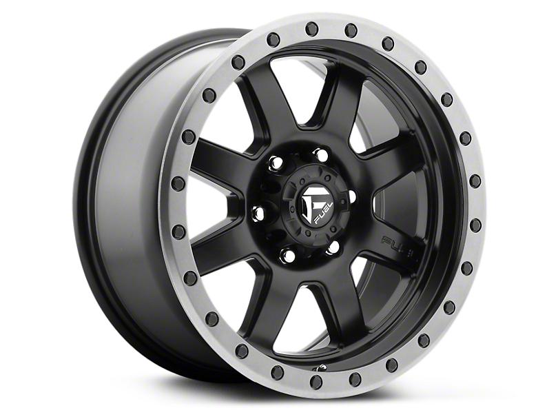 Fuel Wheels Trophy Matte Black w/ Anthracite Ring 6-Lug Wheel - 18x9 (99-19 Silverado 1500)