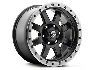 Fuel Wheels Trophy Matte Black w/ Anthracite Ring 6-Lug Wheel - 18x9 (07-18 Silverado 1500)
