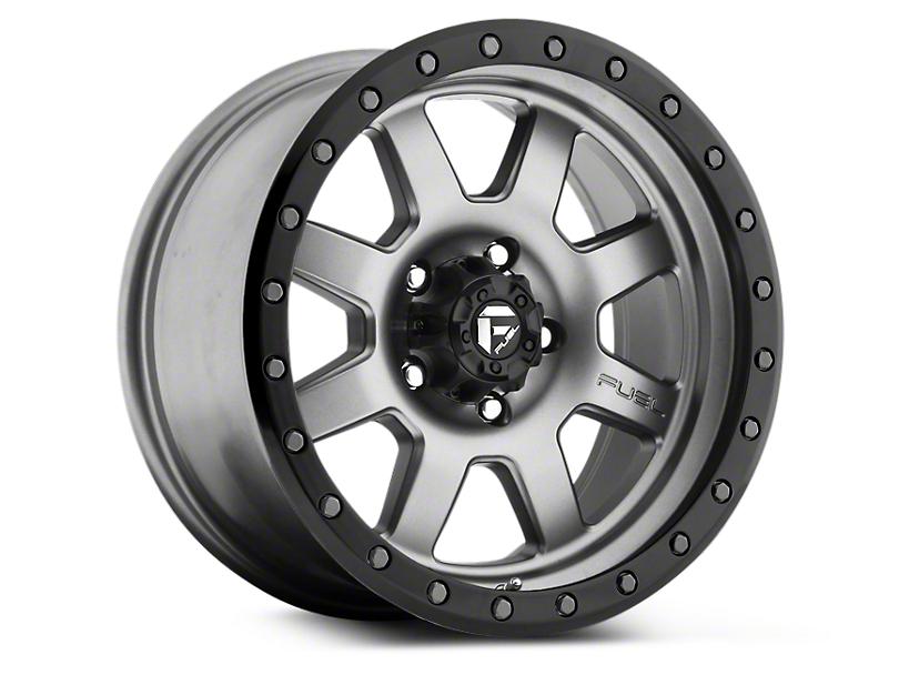 Fuel Wheels Trophy Anthracite w/ Black Ring 6-Lug Wheel - 17x8.5 (99-20 Silverado 1500)