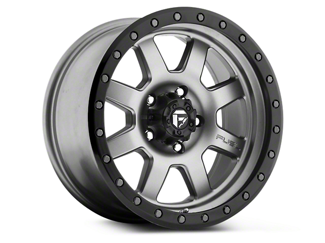 Fuel Wheels Trophy Anthracite w/ Black Ring 6-Lug Wheel; 17x8.5 (99-20 Silverado 1500)