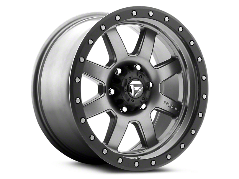 Fuel Wheels Trophy Anthracite w/ Black Ring 6-Lug Wheel - 18x9 (99-18 Silverado 1500)