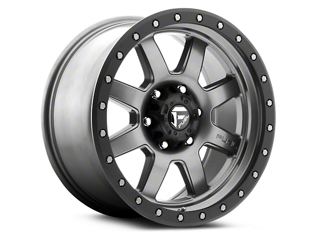 Fuel Wheels Trophy Anthracite w/ Black Ring 6-Lug Wheel; 18x9 (99-20 Silverado 1500)