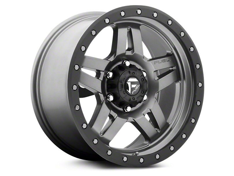 Fuel Wheels Anza Anthracite w/ Black Ring 6-Lug Wheel - 18x9 (07-18 Silverado 1500)
