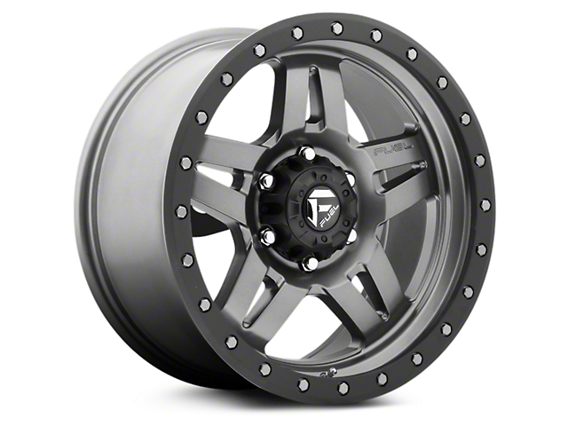 Fuel Wheels Anza Anthracite w/ Black Ring 6-Lug Wheel - 18x9 (99-18 Silverado 1500)