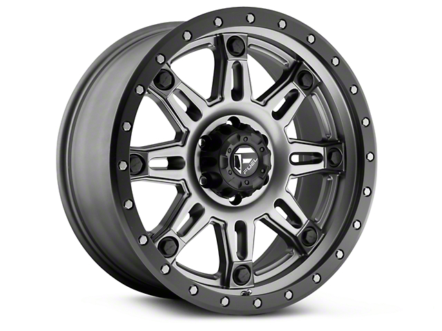 Fuel Wheels Hostage III Anthracite w/ Black Ring 6-Lug Wheel - 17x9 (99-19 Silverado 1500)