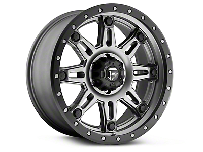 Fuel Wheels Hostage III Anthracite w/ Black Ring 6-Lug Wheel - 17x9 (99-18 Silverado 1500)