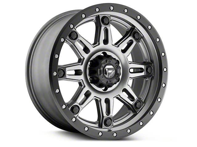 Fuel Wheels Hostage III Anthracite w/ Black Ring 6-Lug Wheel - 18x9 (99-18 Silverado 1500)