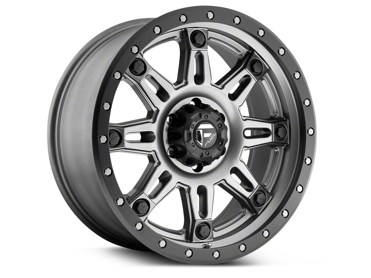 Fuel Wheels Hostage III Anthracite w/ Black Ring 6-Lug Wheel - 18x9 (99-18 Silverado 1500)