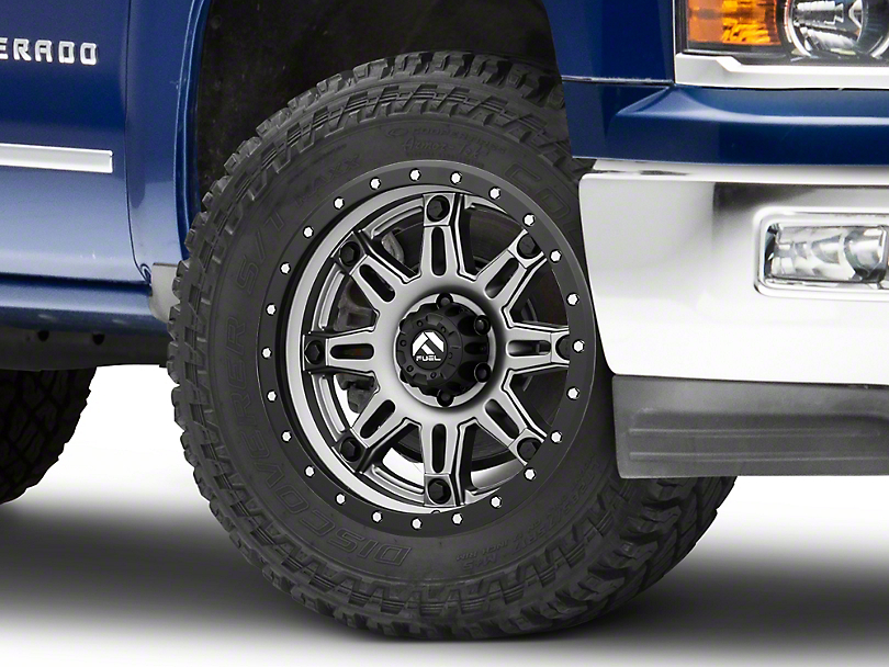 Fuel Wheels Hostage III Anthracite w/ Black Ring 6-Lug Wheel - 20x9 (99-18 Silverado 1500)
